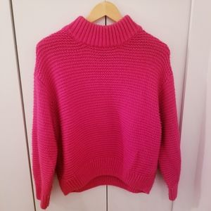 H&M Divided | Bright Pink Knit Cropped Sweater Top